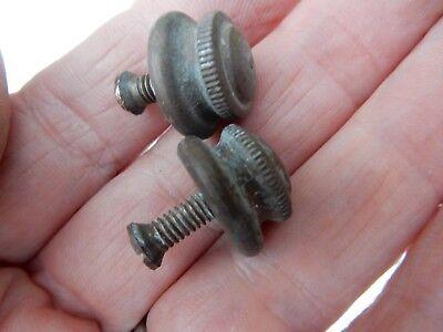 pair miniature brass feet or finial   10mm tall  15 mm diameter
