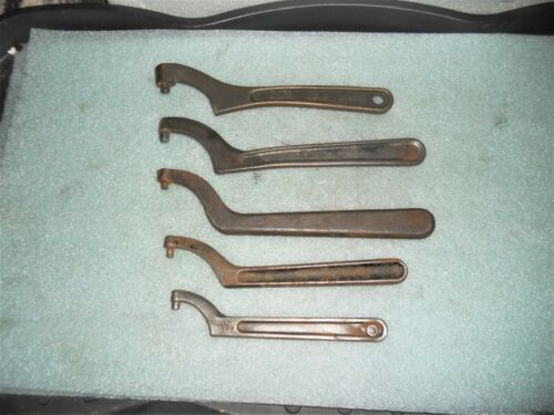 Assorted Lathe Spanner Wrenches, including Vintage South bend Brass Wrench