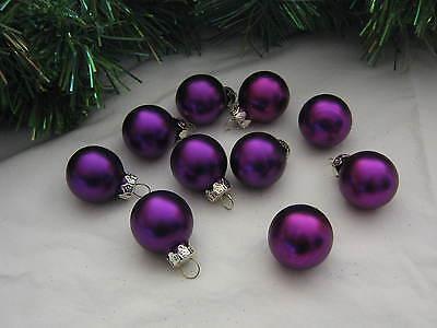 Mini Ornaments Christmas  Glass Balls Purple Satin, Feather Tree, Miniature Tree