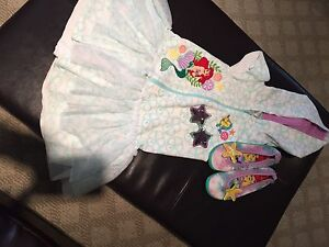 New Disney Ariel 3 piece swim set size 7/8