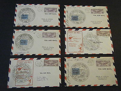 Six  1931 Am 9 First Flight Covers Pembina   Fargo North Dakota  4 Signed By Pm