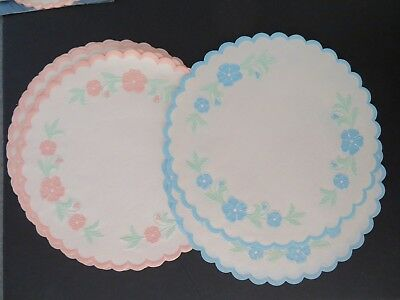 VTG 1940'S BETTY BRITE PAPER LACE DOILIES FAUX EMBROIDERY Crafts~10 inch](Betty Brite)
