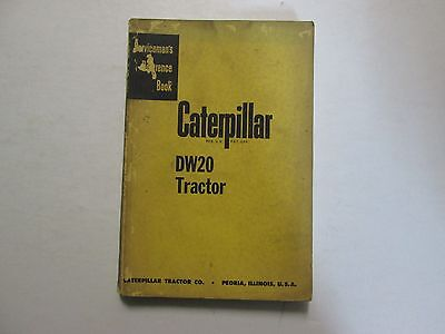 Caterpillar Dw20 Tractor Servicemens Reference Book Used Oem Caterpillar Dw20
