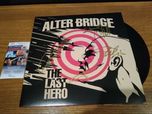 ALTERBRIDGE SIGNED THE LAST HERO VINYL LP autograph record JSA COA Alter Bridge