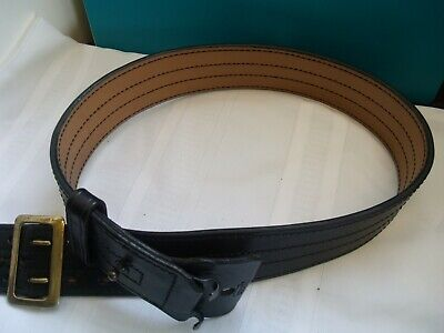 Law Enforcement Black Leather Duty Belt Size 38 2 14 Inch Wide Adjustable Size