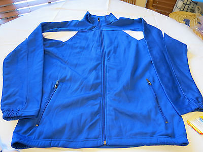 Holloway Athletic dry excel sportswear Impact jacket L large Mens blue NOS NWT