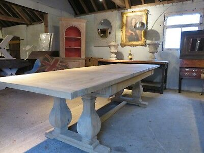 Rustic Reclaimed Elm Extending Dining Table. Seats 10
