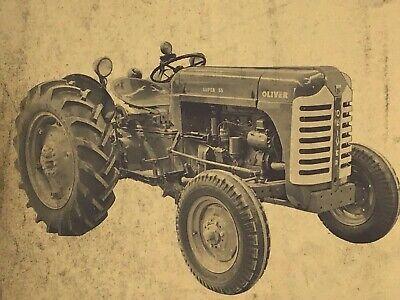 Vtg 1954 Original Oliver Super 55 - Tractor Parts Book