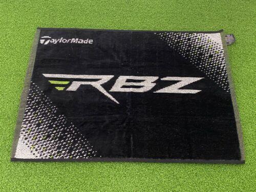 "NEW TaylorMade Golf RBZ ROCKETBALLZ GOLF TOWEL Black & Green 16.5""x24"" Cotton"