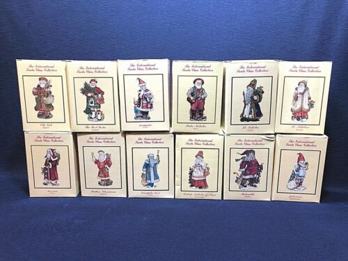 Lot of 12 The International Santa Claus Collection Christmas Figurines