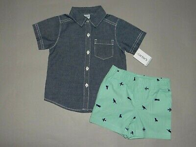 NWT, Baby boy clothes, 9 months, Carter's 2 piece set/ SEE DETAILS SIZE & COLOR