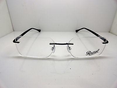 5bf8832dbd شامبر نظارة نظر جديد Authentic PERSOL 2429-V 1009 Black Rimless RX  Eyeglasses 53mm