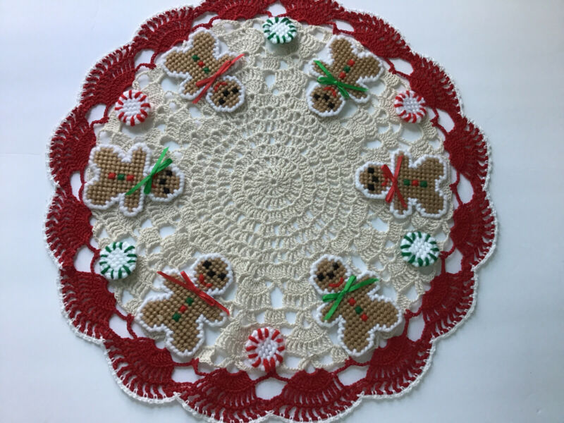 Brand New hand Crocheted Gingerbread Cookies /christmas Candy Mints