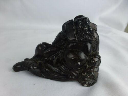 "Nice antique/vintage carved wood figurine, chinese 9"" tall"