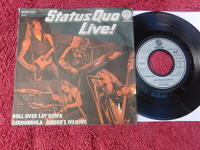 Status Quo  - LIVE! -  3 Track German Picture Sleeve PS 7