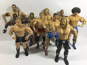 10 WWE Wrestling Action Figures MIXED LOT Bulk Big Show Carlito Southbank Melbourne City Preview