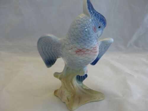 "Royal Copley 7 ¼"" Blue Cockatoo Figurine in Excellent Condition"