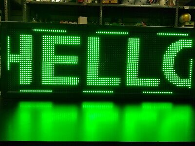 Wifi Programmable Led Sign 40x15 - Green Scrolling Message Board