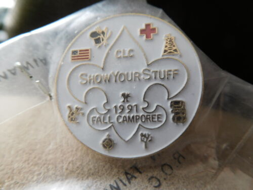 SCOUT BSA 1991 INDIANHEAD CNCL CHIEF LITTLE CROW DISTRICT FALL CAMPOREE HAT PIN