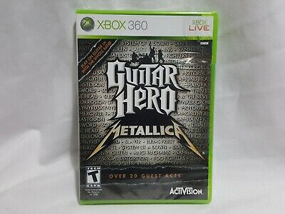 NEW (Read) Guitar Hero - Metallica XBox 360 Game SEALED GH metalica US NTSC for sale  Shipping to India