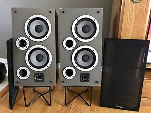 """Wharfedale S33  speakers feat dual 7""""  woofers ENGLAND Made"""