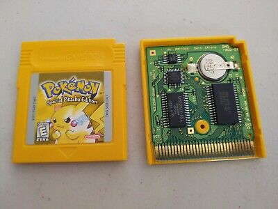 Vintage Nintendo GameBoy Pokemon Yellow Special Pikachu Edition Authentic SAVES