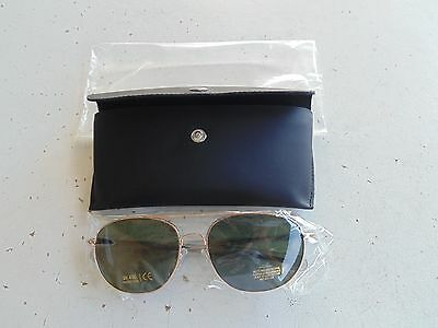USN NAVY NAVAL AVIATION CHIEF CPO WO OFFICER GOLD FRAME AVIATION GLASSES + (Naval Aviator Glasses)