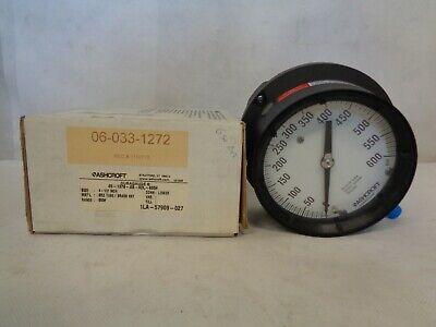 New Ashcroft 45-1379-as-02l-600 4-12 0-600 Psi