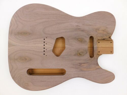 Black Walnut on Western Red Cedar T-Style Guitar Body