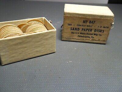 Parcel Box Of Vintage Ss White Sand Paper Disks Cup 78 Coarse U.s.a.