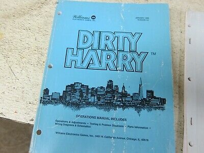 Dirty Harry Pinball owners manual