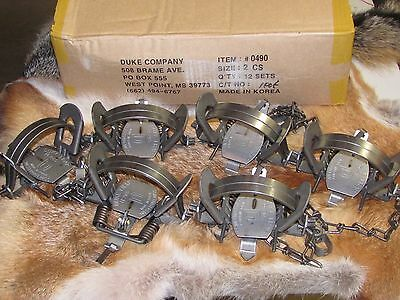 6 DUKE #2 COIL SPRING TRAPS RACCOON COYOTE BOBCAT FOX LYNX NEW SALE , used for sale  Spring Grove