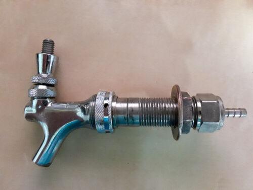 "Taprite - Tap Faucet - Coupling Nut - Barbed Nipple - Draft Shank 3-1/4 "" Long"