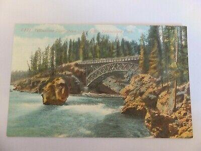 Yellowstone postcard - Acmegraph -  6491 Yellowstone River above Upper Falls
