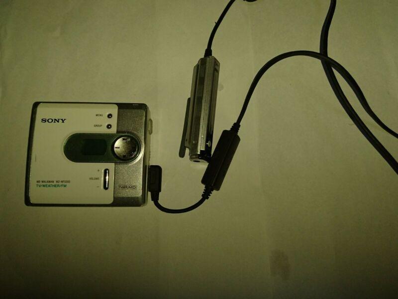 Sony Net Md Walkman MZ-NF520D Weather Works Great w/ Remote RM-MC34LT