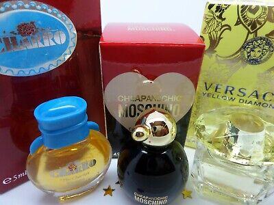 MOSCHINO ~ VERSACE Yellow Diamond ~ Charro WOMEN edt MINI Miniature PERFUME SET
