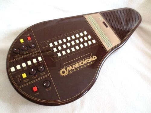 SUZUKI OMNICHORD OM-27 rare BROWN vintage electronic autoharp WORKS so cool