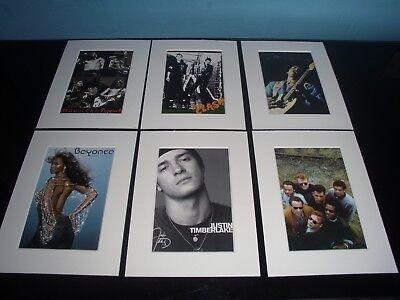 Mounted Rock Pop Prints ( gallery one )