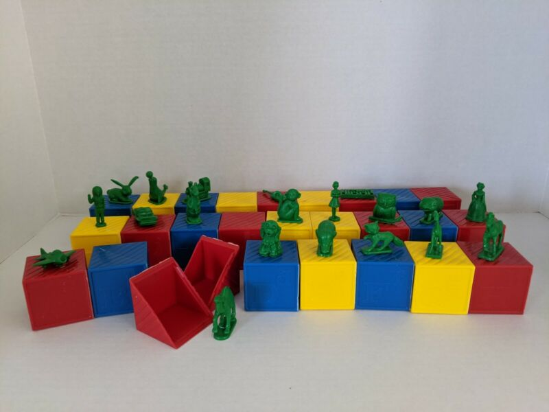 Vintage 1970s Tupperware Busy Blocks Alphabet Toys - Replacement Pieces