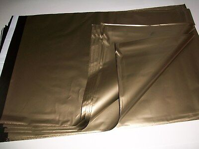 10 X Large GOLD Mailing Postal Packaging Mailers Postage Bags 14 x 20