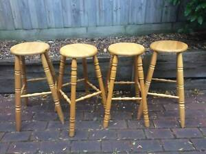 4 wooden bar stools in great condition