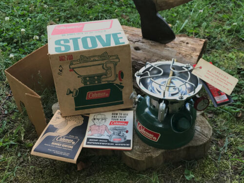 Vintage Coleman 502 One Burner Sportster Stove Complete With Box & Papers 07/72