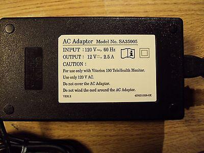 Viterion 100 Telehealth Monitor Ac Adapter Sa35005 12Vdc  2 5 Amp
