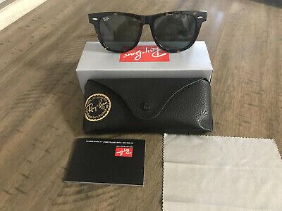 Ray-Ban Wayfarer Sunglasses RB2140 902 54mm Tortoise Shell Frame/G-15 Green Lens