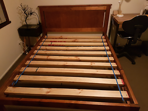MOVING- Solid maple wood double bed Albury Albury Area Preview