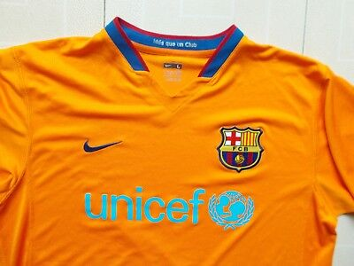 LFP FC Barcelona Unicef CAMISETA RARE JERSEY Futbol Nike FIT Shirt Maglia L segunda mano  Embacar hacia Argentina