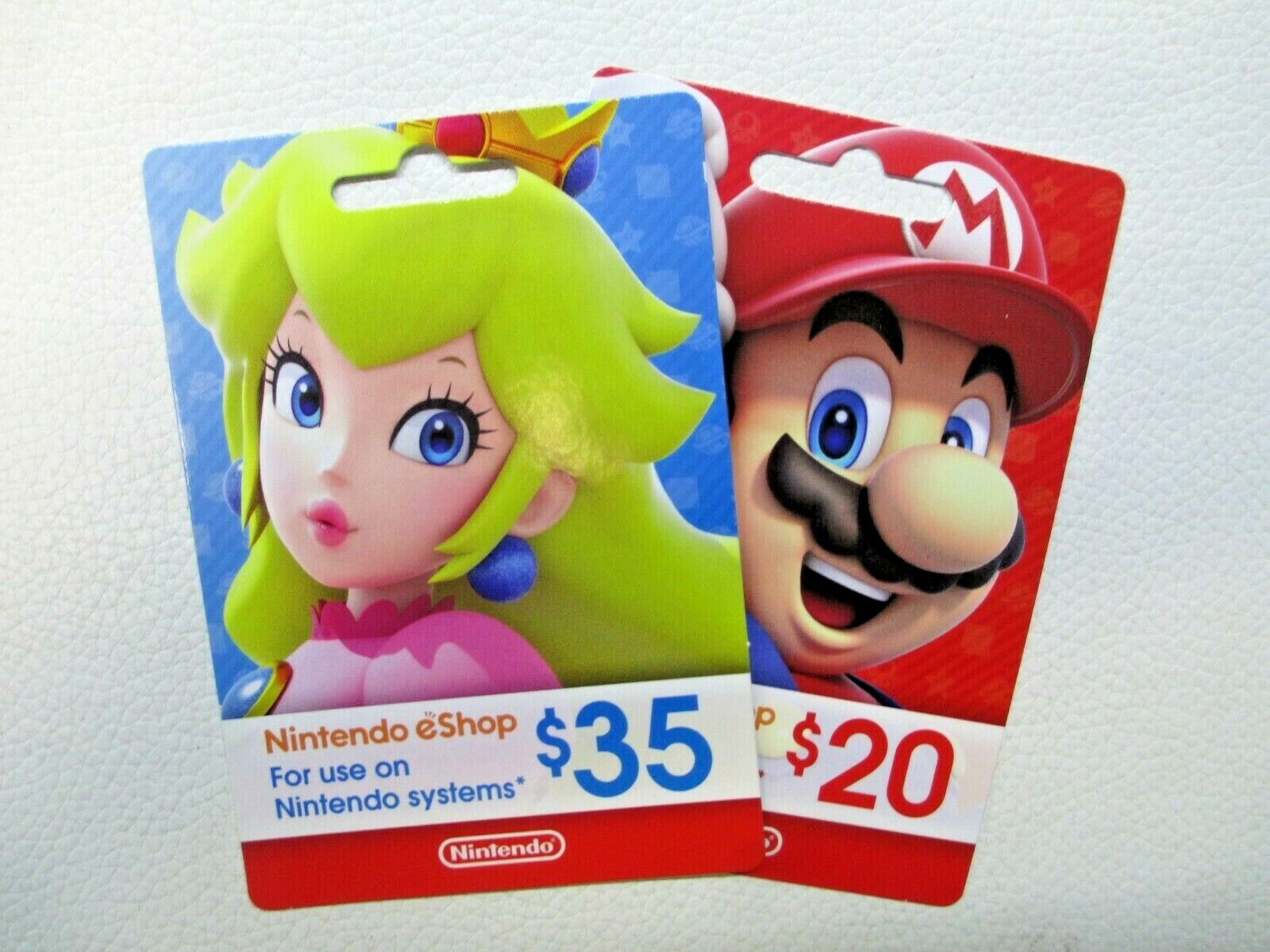 Nintendo EShop Gift Card 55 Total Balance - Physical Card USPS First Class Ship - $48.00