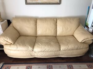 Leather Couch from Brick, in good condition
