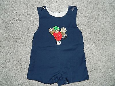 Boy's One-Piece Outfit w/ Bear Baseball Player Size - Baseball Player Outfit