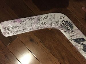 Autographed 2018 AHL All Star Classic CCM goalie stick